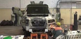 Военные показали свой автомобиль, который выдержал более 70 выстрелов. Видео