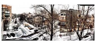 В Харькове выпал снег. Фото
