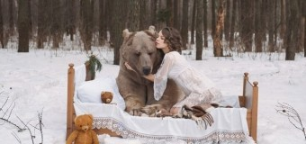 Сеть «взорвали» российские модели, позирующие в обнимку с медведями. Фото