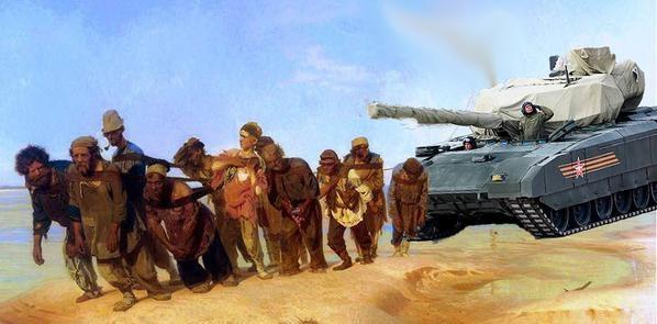Сеть «взорвалась» фотожабами на тему заглохшего танка «Армата». Фото