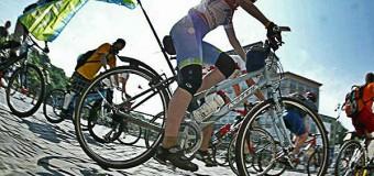 В Украине началось первое велосипедное паломничество. Видео