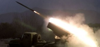 Обстрел позиций террористов: как это выглядит из кабины САУ. Видео