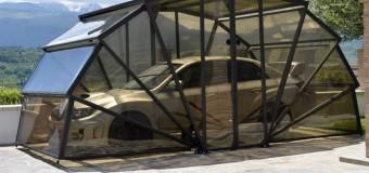 В Италии сделали складной гараж. Видео