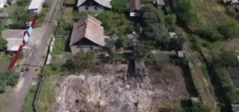 Беспилотник снял видео руин в Горловке