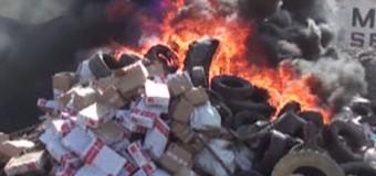 В Новороссийске сожгли 20 тонн санкционного мяса. Видео