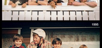 Назад в прошлое: фото из детства, воссозданные взрослыми, поражают
