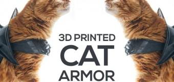 Доспехи для «боевого кота» напечатали на 3D-принтере. Видео