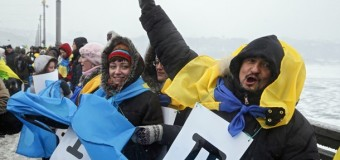 Киевляне образовали живую цепь на День Соборности. Видео