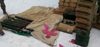 На Донетчине нашли крупный схрон боеприпасов. Фото