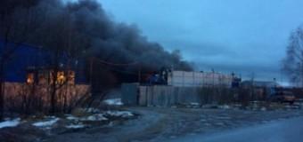 Под Питером горят склады. Фото
