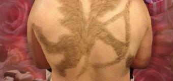 С волосами на спине можно сотворить невероятные вещи. Фото