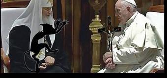 Сеть покорили фотожабы на встречу Папы Римского и патриарха Кирилла