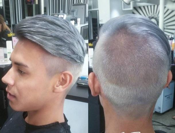 Окрашивание седых волос мужчине