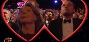 Ди Каприо поцеловал Мэгги Смит на премии BAFTA. Видео