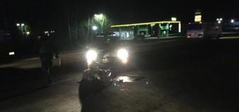 В Мукачево патрульная полиция сбила дедушку на мотоцикле. Фото