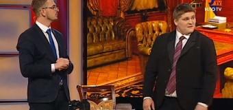 Ироничная пародия на Яценюка и Саакашвили стала хитом дня. Видео