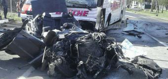 На Волыни четверо человек погибли при столкновении автобуса и BMW. Фото