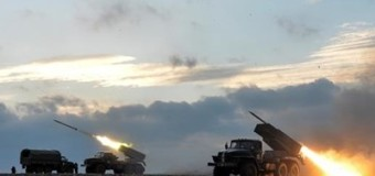Штаб АТО обнародовал видео, как боевики под Донецком применили Град