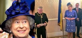 Наряд посла Украины на приеме у королевы высмеяли в сети. Фото
