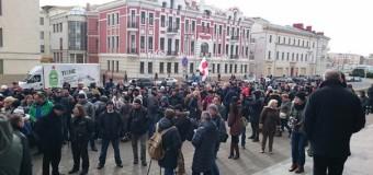В Минске предприниматели устроили акцию протеста против указа Лукашенко. Фото