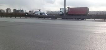 В России вертолет, прибывший эвакуировать пострадавшего, попал в ДТП. Фото