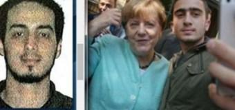 В сети обсуждают селфи Меркель с парнем, похожим на бельгийского смертника. Фото