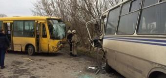 Во Львовской области при столкновении двух автобусов пострадало более 20 человек. Фото
