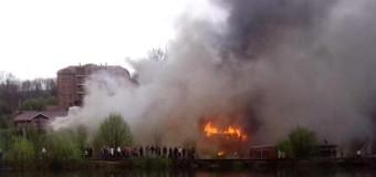 На Закарпатье сгорела гостиница. Видео