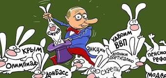 Сеть «взорвала» карикатура на внешнюю политику России