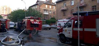 Во время пожара в киевском суде сгорела вся канцелярия. Фото
