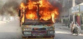 В Китае горел автобус: погибли люди