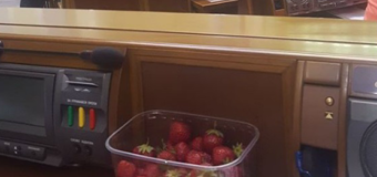 В сети смеются с клубники, которую принесли в Верховную Раду. Фото