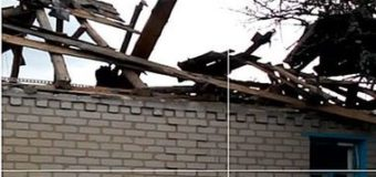 Обстрел Зайцево из запрещенных минометов: мина попала в жилой дом. Фото