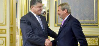 Порошенко говорил с еврокомиссаром о безвизовом режиме