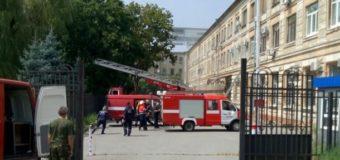 В Харькове вспыхнул огонь в здании Апелляционного суда. Фото