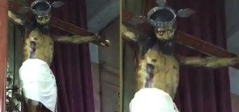 Чудо: статуя Иисуса в Мексике открыла глаза. Видео
