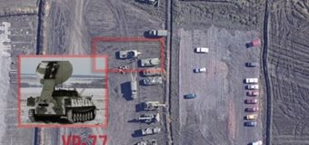 Волонтеры сняли на видео крупное скопление российской техники на Донбассе