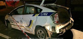 В Киеве сын нардепа разбил два автомобиля, среди которых авто полиции. Видео