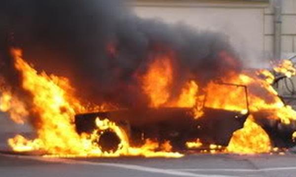 Мужчина взорвался в собственном авто под Николаевом