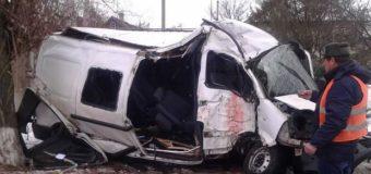 На Луганщине маршрутка разбилась об дерево: пострадали 10 деловек