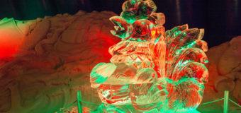 В Киеве открылась выставка ледяных скульптур. Фото