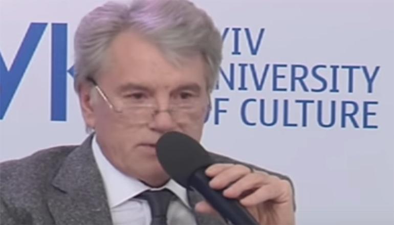 Ющенко занятно потроллил Россию в киевском университете. Видео