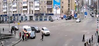В Киеве женщина-водитель въехала в толпу пешеходов