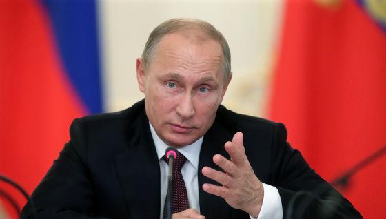 В Крыму Путина облили краской