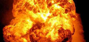 На детской площадке в Донецке взорвался боевик