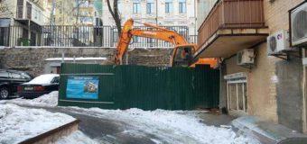 Скандальная стройка в центре Киева обрастает новыми подробностями. Фото