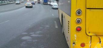 Фотофакт: В Киеве троллейбус попал в ДТП