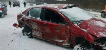В Киеве разбились сразу пять авто. Фото