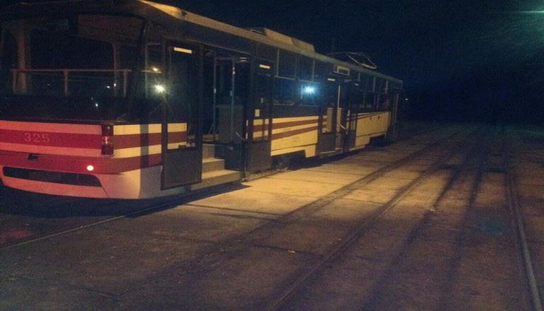 В Киеве горел трамвай