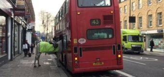 Странная сцена: лошадь пыталась сесть в лондонский автобус. Фото